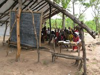View of a bush school in the Central African Republic