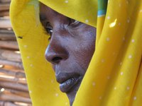 refugee woman from Darfur