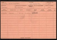 Employee record cards, Babayan-Bonsel