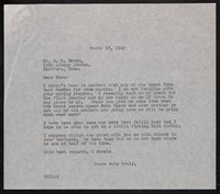 Keeney Family Correspondence with The Taber Cadillac Corp., Somersville Manufacturing Company
