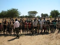 Crowd in Marial Bai, Sudan