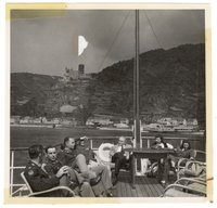 Thomas Dodd and U.S. prosecutors touring the Rhine River