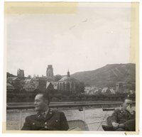 Maj. Murray, Capt. Conkling a tour on the Rhine River