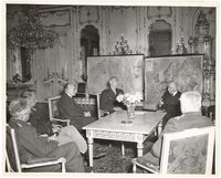 Thomas Dodd and President Benes of Czechoslovakia with others