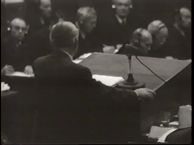 Nuremberg No. 359, historic film footage of Thomas Dodd at the Nuremberg Trial