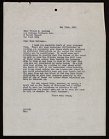 Letter from Arthur J. Peck to Vivien Kellems (1929-05-21)