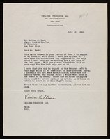 Letter from Vivien Kellems to Arthur J. Peck (1932-07-12)