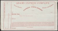 Adams Express Company (blank form)