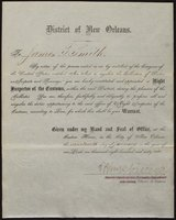 Appointment letter, Night Inspector of the Customs, New Orleans, LA