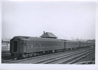 Pullman cars on Boston & Albany Railroad train, Allston