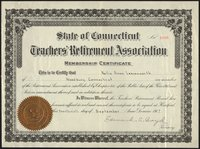 Teacher's Retirement Association certificate
