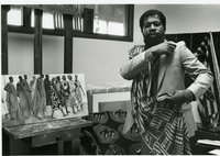 Oscar Walters in his studio