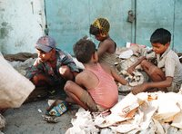 Child Ragpickers Exchange Rags For Money In India