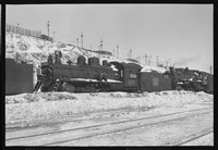 Canadian National Railway steam locomotives and Montreal trolley cars, 1959 February