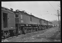 Virginia Railway electric and steam locomotives, 1959 March 31