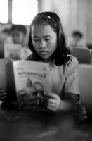 Student Reads At The Marzuki School