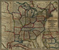 A New Map of the United States. Upon Which Are Delineated Its Vast Works of Internal Communication, Routes Across the Continent &c. Showing Also Canada and the Island of Cuba