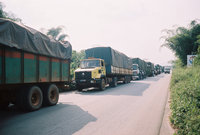 Trucks Halted At Roadblock As Truckers Declare Strike