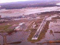 Bridgeport Airport Flooded