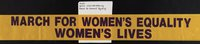 March for Women's Equality sash
