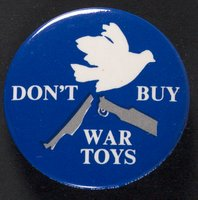 Don't Buy War Toys button