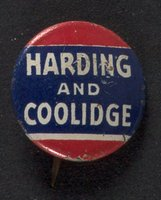 Harding and Coolidge button