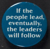 If the people lead button