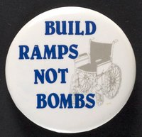 Build Ramps, Not Bombs button