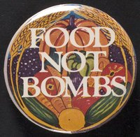 Food Not Bombs button