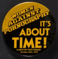 Women Against Pornography button