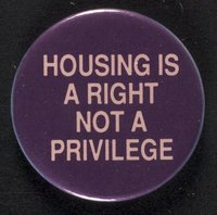 Housing is A Right button