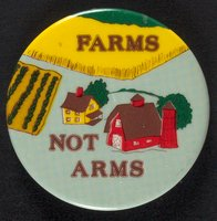 Farms Not Arms button