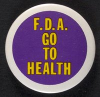 F.D.A. Go to Health button
