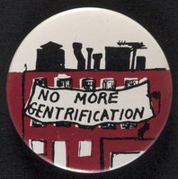 No More Gentrification button