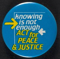 Act for Peace and Justice button