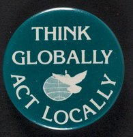 Think Globally, Act Locally button