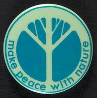 Make peace with nature button