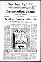 Connecticut Daily Campus, Volume 82, Number 40