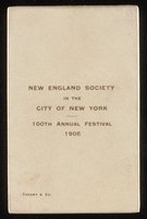 New England Society in the City of New York Medal, 100th Annual Festival