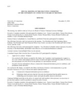 2009-12-23, Board of Trustees Meeting Minutes