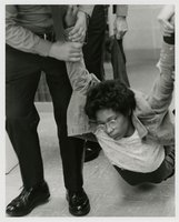 Black student protest in Wilbur Cross Library