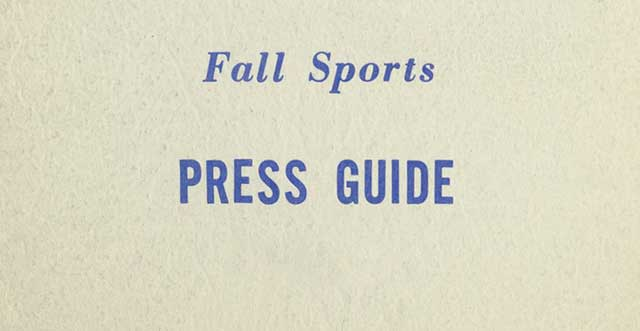 University of Connecticut Fall Sports Press Guide