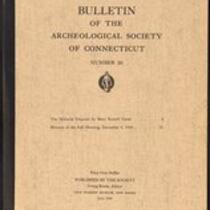 Bulletin of the Archaeological Society of Connecticut, 1949, v. 23