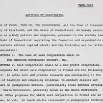 Formation of the American Montessori Society