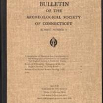 Bulletin of the Archaeological Society of Connecticut, 1936, v. 3