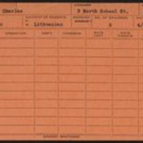 Employee record cards, Petagala - Plumstead