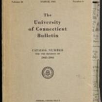 University of Connecticut bulletin, 1943-1944