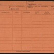 Employee record cards, Rivas - Rourke