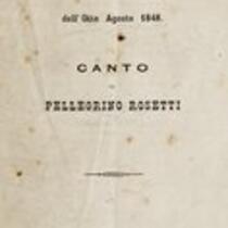 Bologna pel diciannovesimo anniversario dell'otto agosto 1848 : canto
