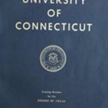 University of Connecticut bulletin, 1963-1964